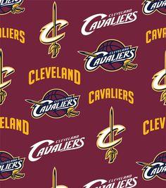 "Cleveland Cavaliers Fleece Fabric 60"" - Tossed"