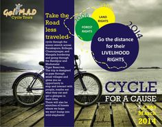 Check this out and make a difference! www.madcycletours.in   ~ Let's ecoscape!