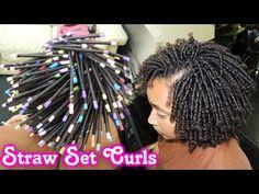 Meu Cabelo Crespo (Afro tipo 4C): Definição Cabelo Crespo Cacheado com Canudos de Plásticos