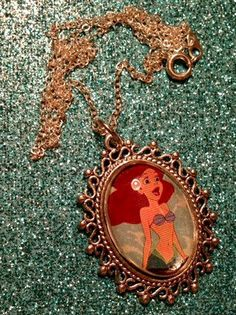 Ariel Part Of Your World Necklace by MysteresMasquerade on Etsy, $7.99