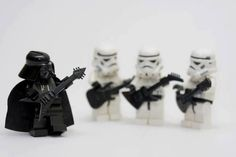 Lego Star Wars Band Musicians Rock Guitar Music Fun ;}