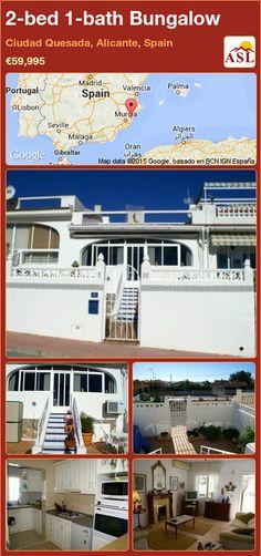 2-bed 1-bath Bungalow in Ciudad Quesada, Alicante, Spain ►€59,995 #PropertyForSaleInSpain