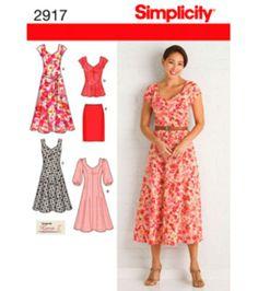 Simplicity Pattern 2917-Misses'/Women's Dress-Sz 20W-28W, , hi-res