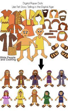 Biblia digital Clip Art papel muñecas más de 70 Biblia
