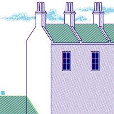Three Chimneys by Marcos Moran #illustration