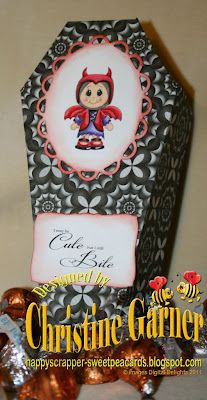 SVG coffin box cut file, halloween kiddles, ghoulish paper and sentiments from www.digitaldelightsbyloubyloo.com. See our tutorial at http://digitaldelightsbyloubylootutorials.blogspot.com/ by Christine Garner