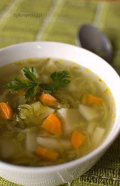 zupa ogórkowa z og. Polish Recipes, Polish Food, Soups And Stews, Soup Recipes, Veggies, Ethnic Recipes, Roots, Van, Heart