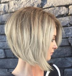 Cute Teased Ash Blonde Bob