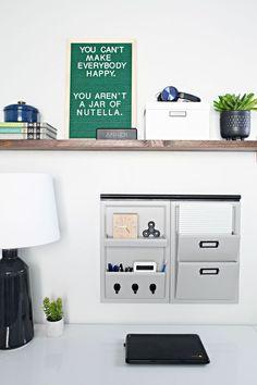 Teen Boy Bedroom Workspace & DIY Shelf