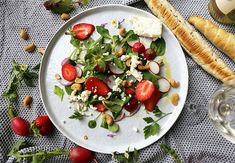 Salade du jardin de Cupidon #salad #romantic #strawberry #fresh #valentinesday #foodlavie My Best Recipe, Caprese Salad, Vinaigrette, I Am Awesome, Good Food, Chicken, Recipes, Comme, Food La
