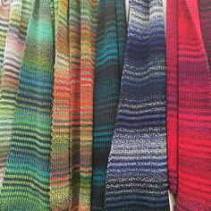 #Striped Transition #scarves These are just SOME of the #colours that are available. Buy direct from me the #maker at stand F3 #HandmadeatKew today! Just 49 & #madeinlondon #madeinbritain  #rainbow #knitting #knit #kew #london #wool #gifts #scarf #stripe #stripy #fashion #knitwear #accessories #menswear
