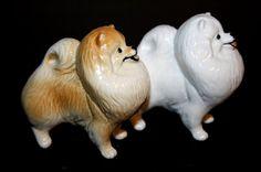 Pomeranian dog porcelain figurine handmade by RussianArtDogs