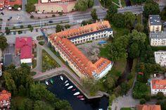 Węgorzewo - Zamek w Węgorzewie - Widok z lotu ptaka od zachodu, fot. ZeroJeden, IX 2012