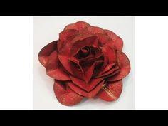 Como fazer flores de papel p/ scrapbook usando cortador circular - Rosa - YouTube