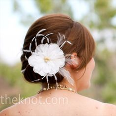 Feather Flower Hairpin