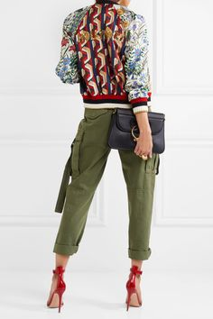 Gucci - Sequin-embellished Printed Silk-twill Bomber Jacket - Red - IT48