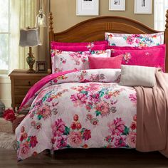 Bed In A Bag King Comforter Sets - Home Furniture Design King Size Comforter Sets, King Size Comforters, Queen Bedding Sets, Pink Bedding Set, Guest Bedrooms, Master Bedroom, Quilt Sets, Home Remodeling, Quartos