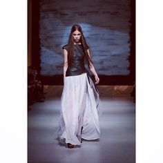 """Eco leather dress and skirt by Coo Culte #RFW #CooCulteShow"""