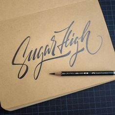 Such awesome letterforms in this work by Hand Drawn Lettering, Types Of Lettering, Script Lettering, Typography Letters, Brush Lettering, Lettering Design, Hand Typography, Lettering Tattoo, Calligraphy Words