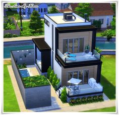 Casa Amadeirada Contêiner - The Sims 4 ( no cc ) The Sims 4 Houses, Sims 3 Houses Ideas, Sims 2 House, Sims 4 House Plans, Sims 4 House Building, Sims 4 House Design, Home Design, Sims Ideas, Build House