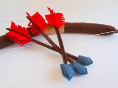 Kids Felt Bow Arrows Quiver Pretend Play Toy by TinyDisguises, $25.00