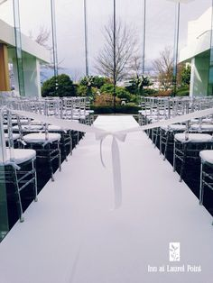 Wedding ceremony aisle, indoor in Terrace Ballroom