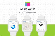 Axure widget library / Apple Watch by Axemplate on @creativemarket