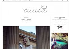 Top part of Tuula's blog Clear, simple, layout, functional