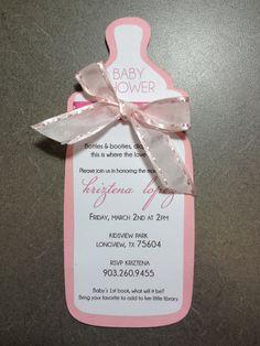 Baby Bottle Invite By Designmesweet On Etsy 2 25 Shower Invites