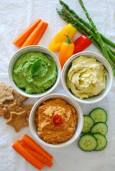 Hummus 3 ways from Myra Goodman's latest cookbook, Straight From the Earth #vegan @Sheila -- -- Collette Farm