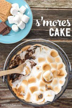 10 minute Dutch Oven S'Mores Cake Recipe
