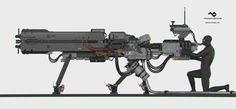 ArtStation - Railgun Concept, Ryo Yambe