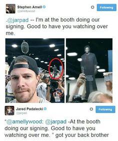 Stephen Amell and Jared Padalecki