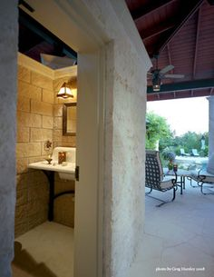 Pool house bathroom pool and backyard pinterest pool for Outdoor pool bathroom ideas