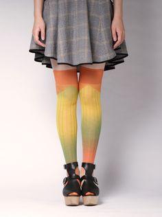 Gradation knee socks | ayame