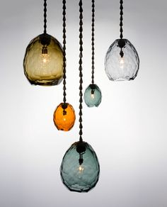 glacier pendants by David Wiseman