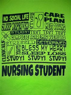 Life of nursing students ! Just 4 classes left until my RN then onto BSN then nurse practitioner school.  So school forever