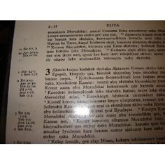 Ateso Bible 052 / Ebaibuli / Ateso (also known as Iteso or Teso) is a Nilo-Saharan language, spoken by the Iteso ethnic group in Uganda and Kenya    $83.99