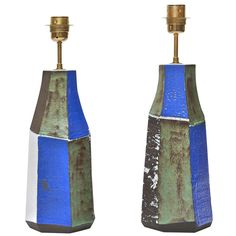 Pair Of Ceramic Lamp Bases By Salvatore Parisi | From a unique collection of antique and modern table lamps at http://www.1stdibs.com/furniture/lighting/table-lamps/