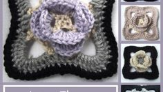 Lacy Flower Afghan Square