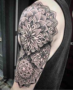 By @bintt #tattoo #tattoos #tattooing #tattooed #tattooer #tattooist #tattooartist #art #dotwork #dotworktattoo #geometrictattoo #geometric #blacktattoo #blackwork #ink