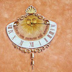 Meridiana - Bressanone Sundial, Clocks, Washer Necklace, Art Decor, Cities, Solar, Moon, Windows, Watches