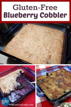 Gluten-Free Blueberry Cobbler. Super easy and delicious. [from ...