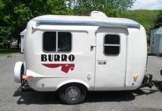 Burro travel trailers are made of a double shell construction insulation. These light weight travel trailers are reliable small campers that are a durable. Easy to tow small travel trailer or small RV Mini Travel Trailers, Tiny Trailers, Vintage Trailers, Camper Trailers, Vintage Campers, Scamp Camper, Scamp Trailer, Travel Camper, Popup Camper