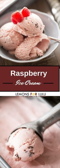 This raspberry ice cream is so creamy and delicious! Bold raspberry flavor and…