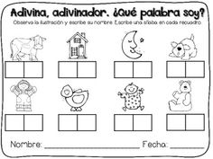 Bilingual Scrapbook: Adivina, adivinador. ¿Qué palabra soy? {Labeling Activities in Spanish}