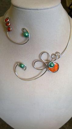 FREE EARRINGS Wedding jewelry Orange and by LesBijouxLibellule