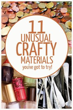 I've always been a fan of finding the unusual to craft with. While I have a cabinet full of felt and yarn at home, these unconventional craft materials make for more unique creations. Give your crafts...