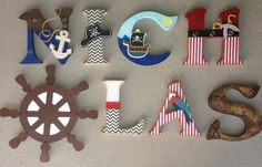 Pirate themes nursery letters