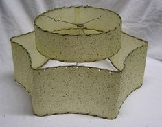 Mid Century Lamp Shades Retro Mid Century Modern Fiberglass Tier Lamp Shade With Lace Trim